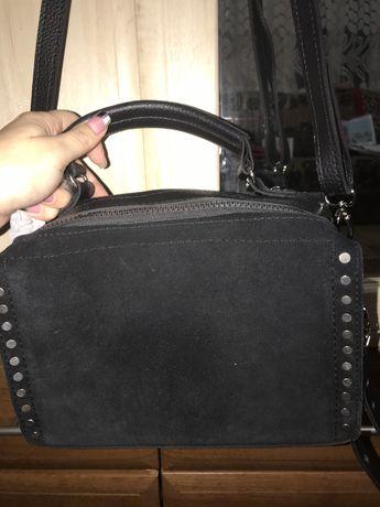 Стильная замшевая сумка