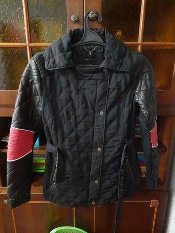 Куртка демисезонная женская, кожа+плащевка.
