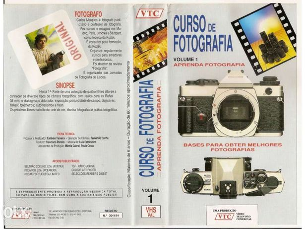 Curso de Fotografia - VHS (Portes Incluídos)
