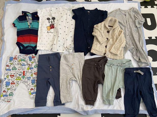 Zestaw ubranek 3-6 miesiecy 3 mc spodnie body rampers