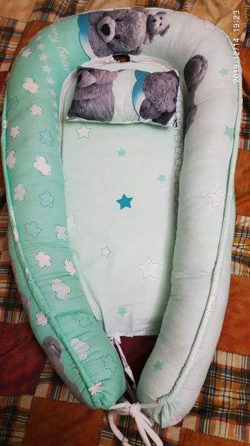 Гнёздышко с подушкой и конверт одеялко