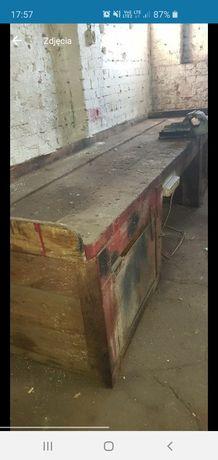 Stary stół warsztatowy - ze starej kuźni!