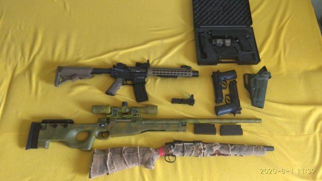 Replika ASG wyprzedaż L96 WELL MK23 TM M4 SA Beretta STTI