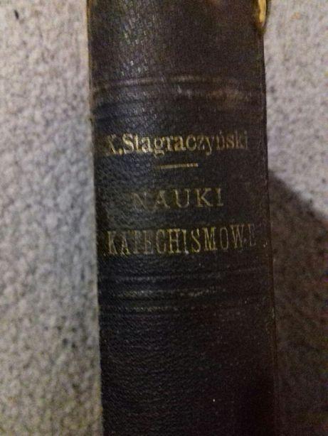 """Три тома книг """"Nauki Katechismowe"""",1886-1889 год"""