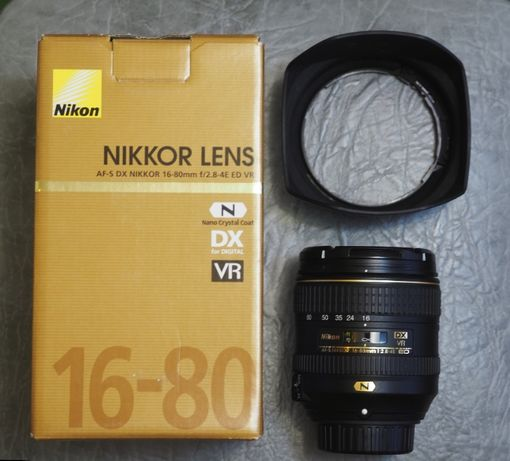 Объектив NIKON AF-S DX 16-80 mm f/2.8-4E ED VR