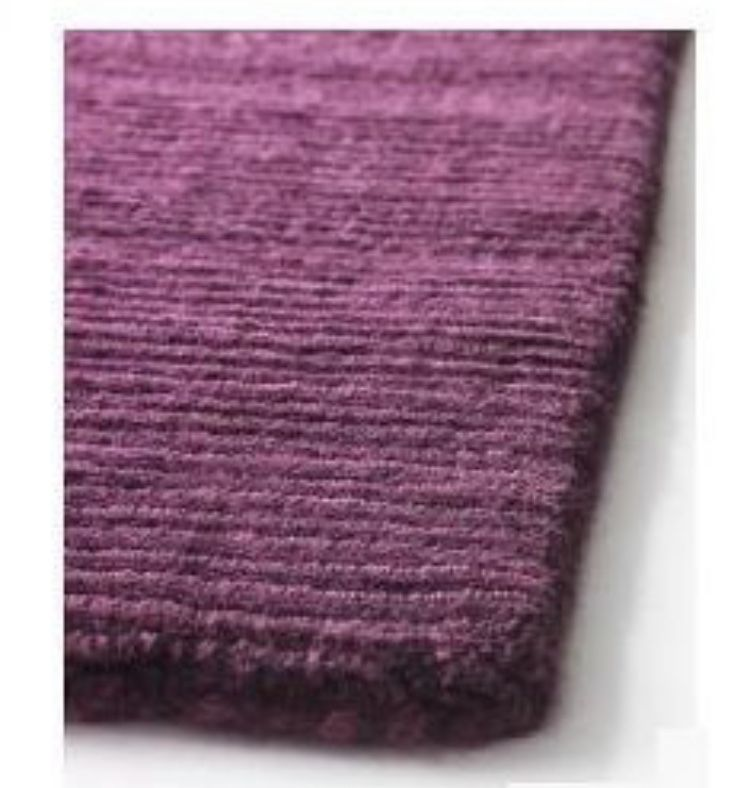 Dywan wełniany ręcznie tkany fioletowy