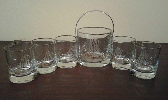 Conjunto de 5 copos com balde para gelo