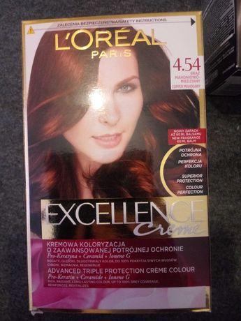 Farba do włosów Loreal 4.54