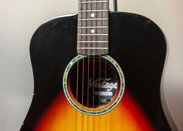 Vintage VTG100BRS akustyk traveller gitara podróżna short scale 3/4