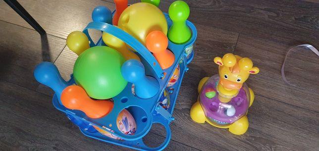 Zabawki kręgle i żyrafa ala bączek