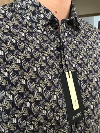 Koszula Lambert Wólczanka 41 liście slim