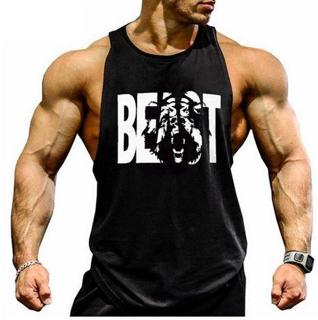 Koszulka na ramiączkach Tank top na siłownie BEAST