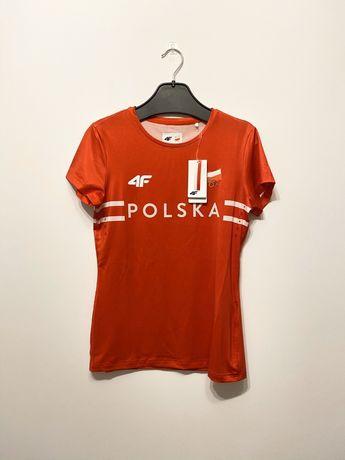 4F: Czerwona damska koszulka Olimpijska Polska rozm M nowa z metką