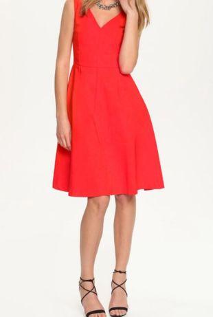 Czerwona sukienka na wesele, imprezę Top Secret, 38