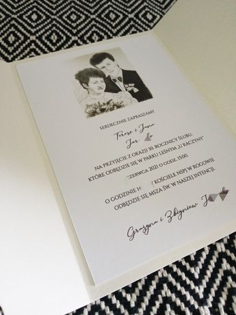 Zaproszenie ślub/ rocznica/ komunia i inne okazje. Portret lub zdjęcie
