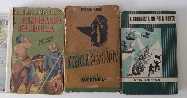 Livros de aventuras antigos