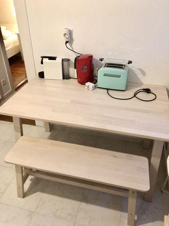 Mesa + Banco corrido Ikea - modelo NORRAKEr BÉtula
