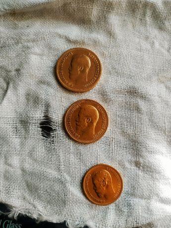 Монеты Царской России, Николай ll, 5,7,50,10 рублей
