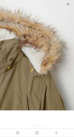 Подростковая деми куртка  парка Н&М р.164