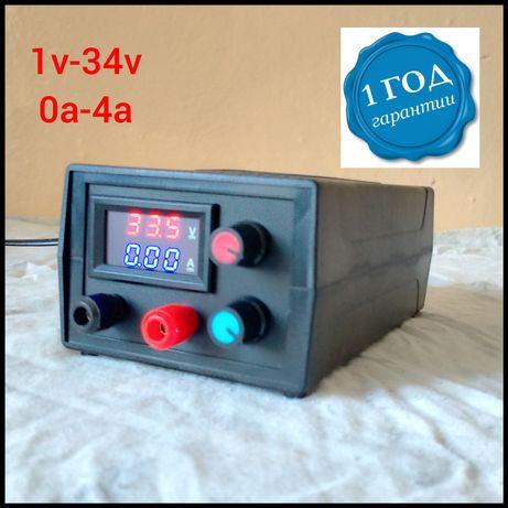 Лабораторный блок питания Регулируемый 1v до 34v и от 0 до 4А зарядное