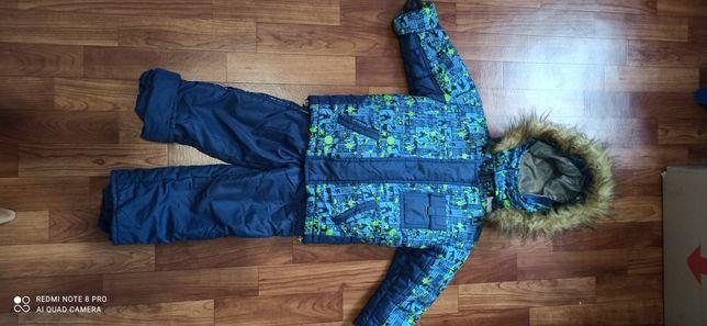 Зимний комплект комбинезон (куртка + комбинезон) на мальчика
