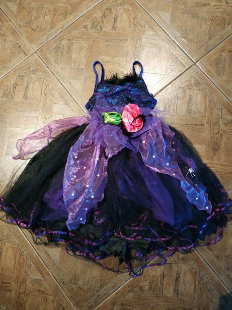 Suknia mała wiedźma strój karnawałowy na 3-4 latka