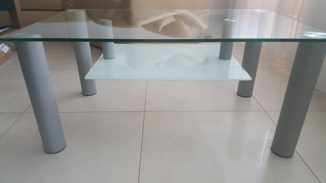 Szklany stolik kawowy ława 100x60x45 cm Endo polski produkt stan bdb