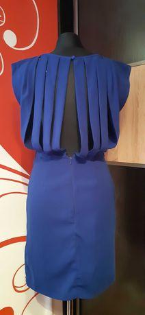 sukienka kobaltowa S