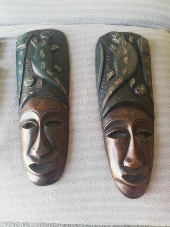 2 máscaras da Rep. Dominicana mais escultura em resina