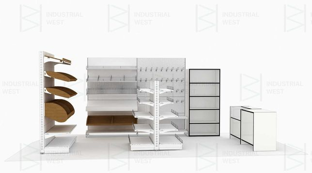 Стелажі, торгове обладнання, полиці в магазин В НАЯНОСТІ