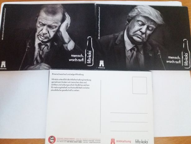 Fritz kola открытки листівки германия фриц кола трамп коллекция