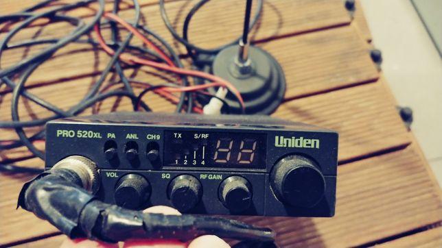 Cb radio Uniden pro 520 xl (pro 520xl / pro520xl) + antena president