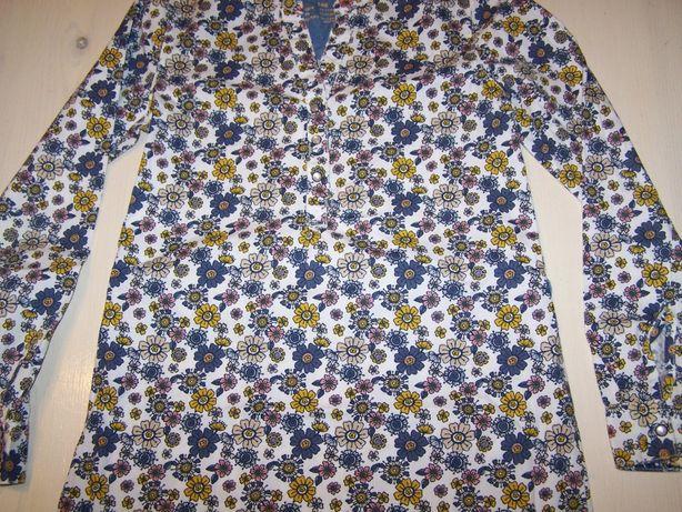 Długa koszula tunika sukienka 146cm Lupilu ochre jesień