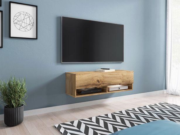 Nowoczesna szafka RTV, stolik pod telewizor 100 cm  - WOTAN, opcja LED