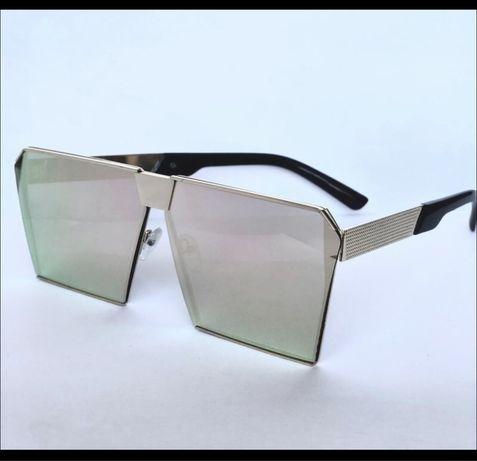 Очки маска, очки зеркальные, очки квадратные, очки широкие