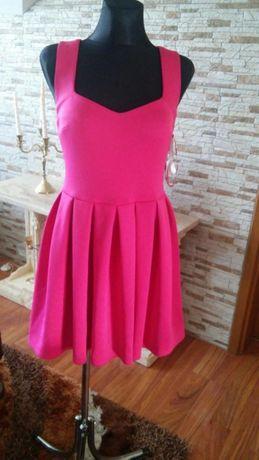 Różowa piękna sukienka suknia r.36