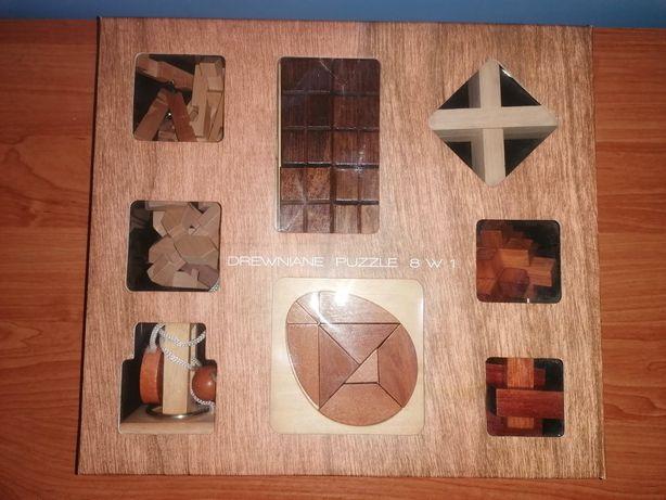 Drewniane Puzzle 8w1 Geniuz Logic Toys