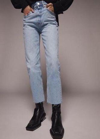 Джинсы Zara прямые 34 размер