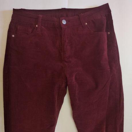 джинсы велюр бордовые