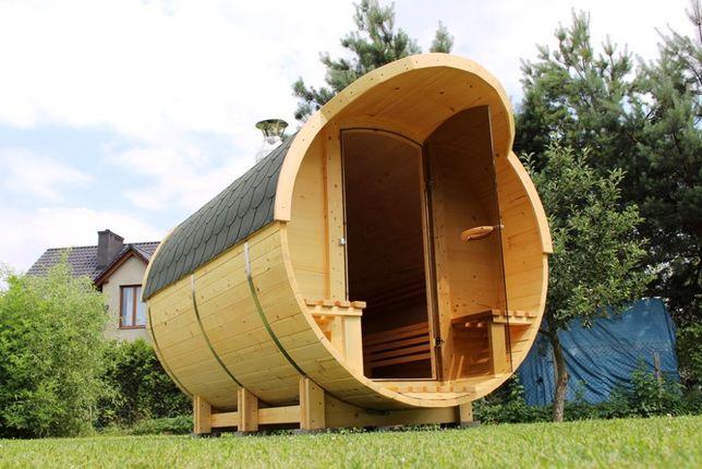 Sauna ogrodowa beczka 2,4m piec do wyboru