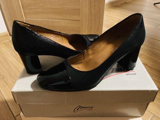 nowe pantofle skorzane 37