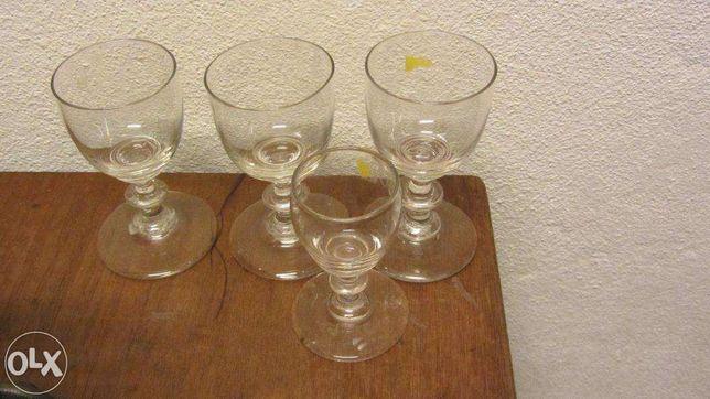 3+1 copos em cristal antigo