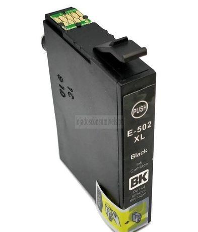 Tinteiro Epson Compatível T02W1/T02V1 (502XL) Preto