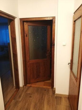 Drzwi drewniane wewnętrzne z lat 90
