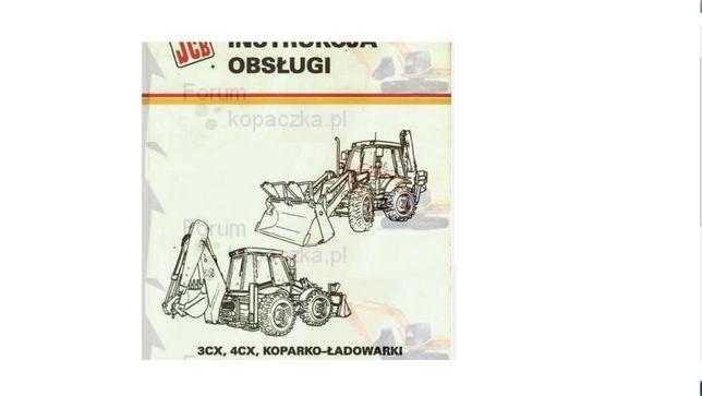 instrukcja obsługi koparko ładowarki jcb 3 cx,4cx