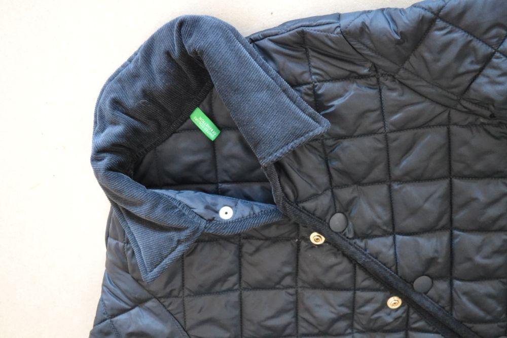 Płaszczyk pikowany kurtka UNITED COLORS OF BENETTON r.M 7/8 lat 130cm Węgierska Górka - image 1
