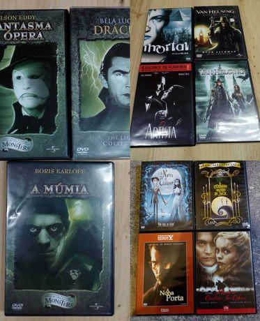 Dvds cinema clássico, animação, tim burton, johnny deep