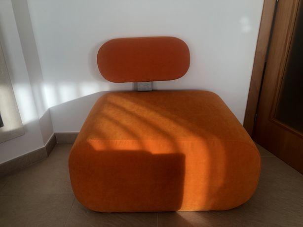 Sofa individual laranja