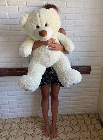 Огромный плюшевый большой медведь белый мишка