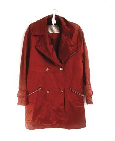 Czerwona Kurtka płaszczyk M L 38 40 OVERSIZE vintage retro